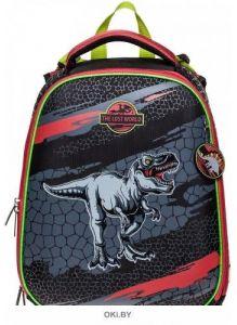 Мир динозавров - рюкзак Hatber ERGONOMIC 37X29X17 см EVA материал светоотражающий, 2 отделения на молнии
