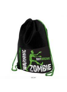 Zombie - мешок для сменной обуви с карманом на молнии 1 отделение Hatber