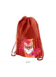 Забавный лис - мешок для сменной обуви 34х41 см с карманом на молнии 1 отделение Hatber