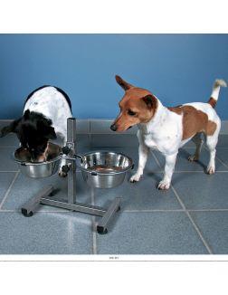 Стойка для мисок из металла для собак