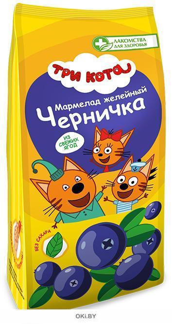 Мармелад желейный Черничка «Три кота» 105 гр