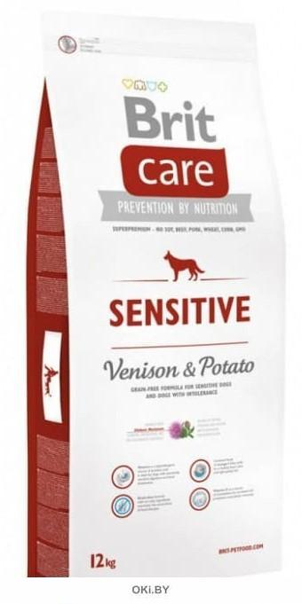 Корм сухой для собак с чувствительным пищеварением, оленина с картофелем 12 кг Care Dog Sensitive (Venison) (132745)