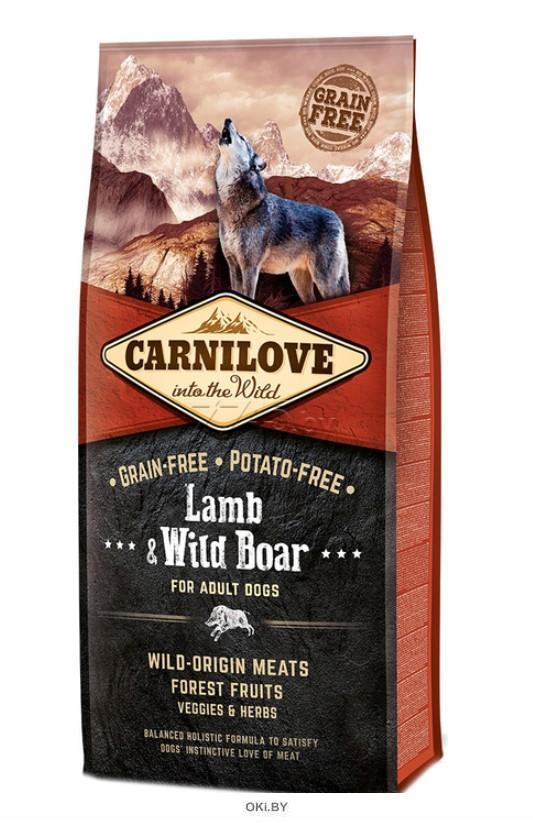 Корм для собак сухой беззерновой CARNILOVE Adult ягненок и дикий кабан 12 кг (150817)