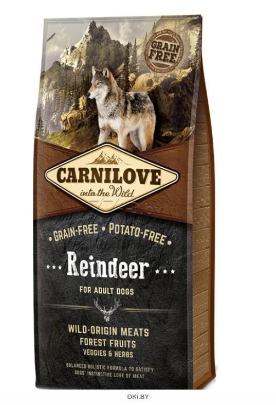 Корм для собак сухой беззерновой CARNILOVE Adult Reindeer олень 12 кг (150820)