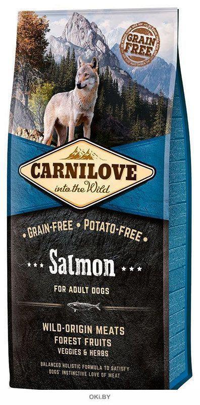 Корм для собак сухой беззерновой CARNILOVE Adult лосось 12 кг (150819)