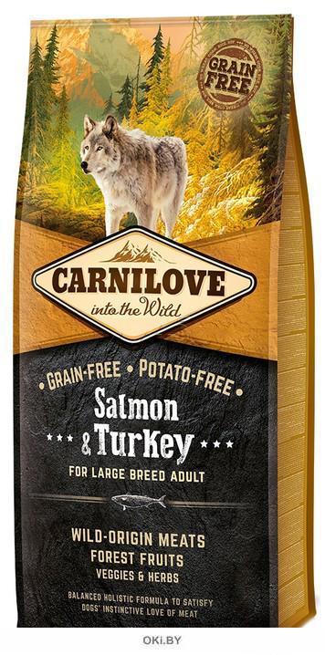 Корм для взрослых собак крупных пород, беззерн. 12 кг Carnilove Salmon & Turkey for Large Breed Adult (50821)