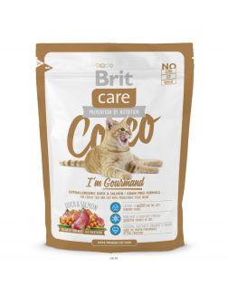 Корм для взрослых кошек-гурманов сухой беззерновой BRIT Care Cocco I'm Gourmand 0,4 кг (132629)