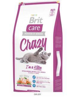 Корм для котят, беременных и кормящих кошек 7 кг Care Crazy Kitten Cat (132600)