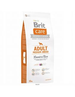 Корм для собак сухой BRIT Care Adult Medium Breed ягненок с рисом 12 кг (132709)