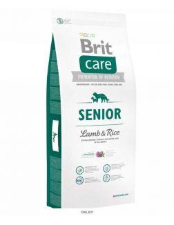 Корм для пожилых собак сухой BRIT Care Senior All Breed ягненок с рисом 12 кг (132715)