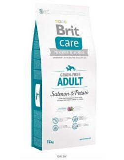 Корм для собак сухой беззерновой BRIT Care Grain-free Adult лосось с картофелем 12 кг (132724)