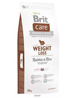 Корм сухой для собак, склонных к полноте, кролик с рисом 12 кг Care Weight Loss (132736)
