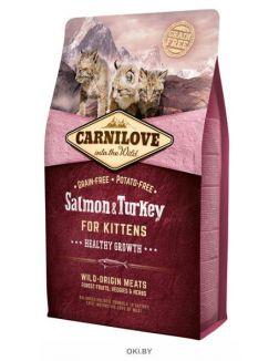 Корм для котят, лосось и индейка 6 кг Carnilove Salmon & Turkey for Kittens (512218)