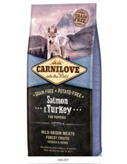 Корм для щенков сухой беззерновой лосось и индейка 12 кг Carnilove Salmon & Turkey for Puppies (150815)