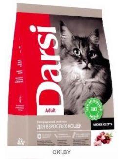 Сухой корм для кошек 10 кг Adult Мясное ассорти, Дарси (37179)