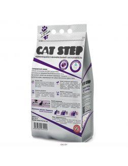 Комкующийся минеральный наполнитель CAT STEP Compact  White Lavеnder, 5 л