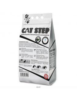 Комкующийся минеральный наполнитель CAT STEP Compact White Carbon, 5 л