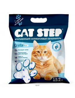 Наполнитель для кошачьих туалетов Cat Step Crystal Blue 15,2 л, силикагелевый впитывающий