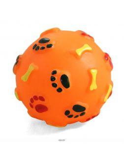 Игрушка для собак из винила «Мяч с лапками и косточками» d 80 мм