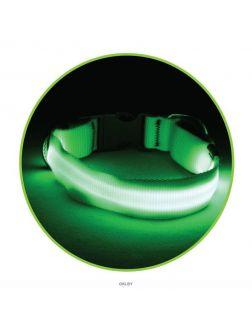 Ошейник светодиодный NIGHT CITY неоновый желтый L, 25*410-510мм