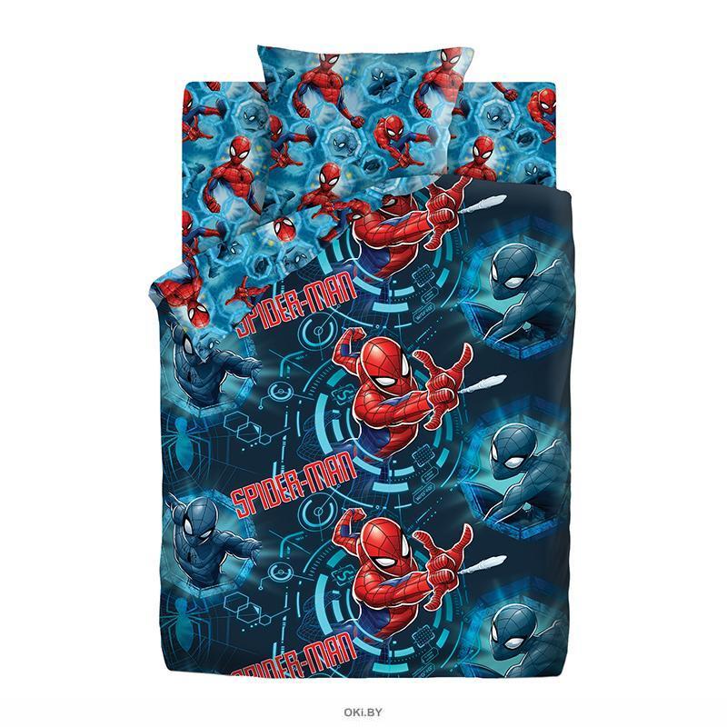 Детское постельное белье полутороспальное «Человек Паук» Neon (9041-1/9042-1)