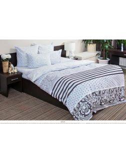 Постельное белье двуспальное Евро Ночь Нежна «Мадрид» (серый) Поплин 50х70 (2) премиум 5823-2