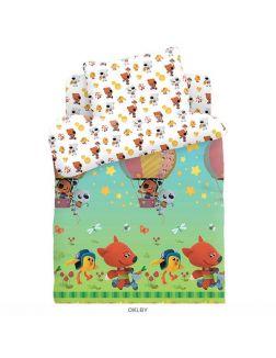 Детское постельное белье «Ми-ми-мишки. Воздушный шар» 1 сп. (40х60) 16151-1/16152-1 поплин