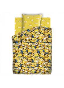 Детское постельное белье полутороспальное «Миньоны» (70*70) (8677+8675)