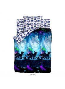 Детское постельное белье «Как приручить дракона. Таинственный мир» Neon 1,5 сп. 70х70 хлопок 16136-1/16126-1