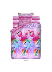 Детское постельное белье «My Little Pony. Подводные пони» 1,5 сп. 70х70 бязь 8918-1/8919-1