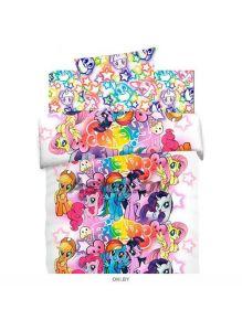 Детское постельное белье полутороспальное «My little Pony» хлопок Neon (16027-1/16028-1)