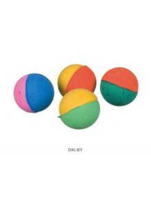 Sponge balls - игрушка для кошки, диам. 4. 3 см (4шт. ) TRIXIE