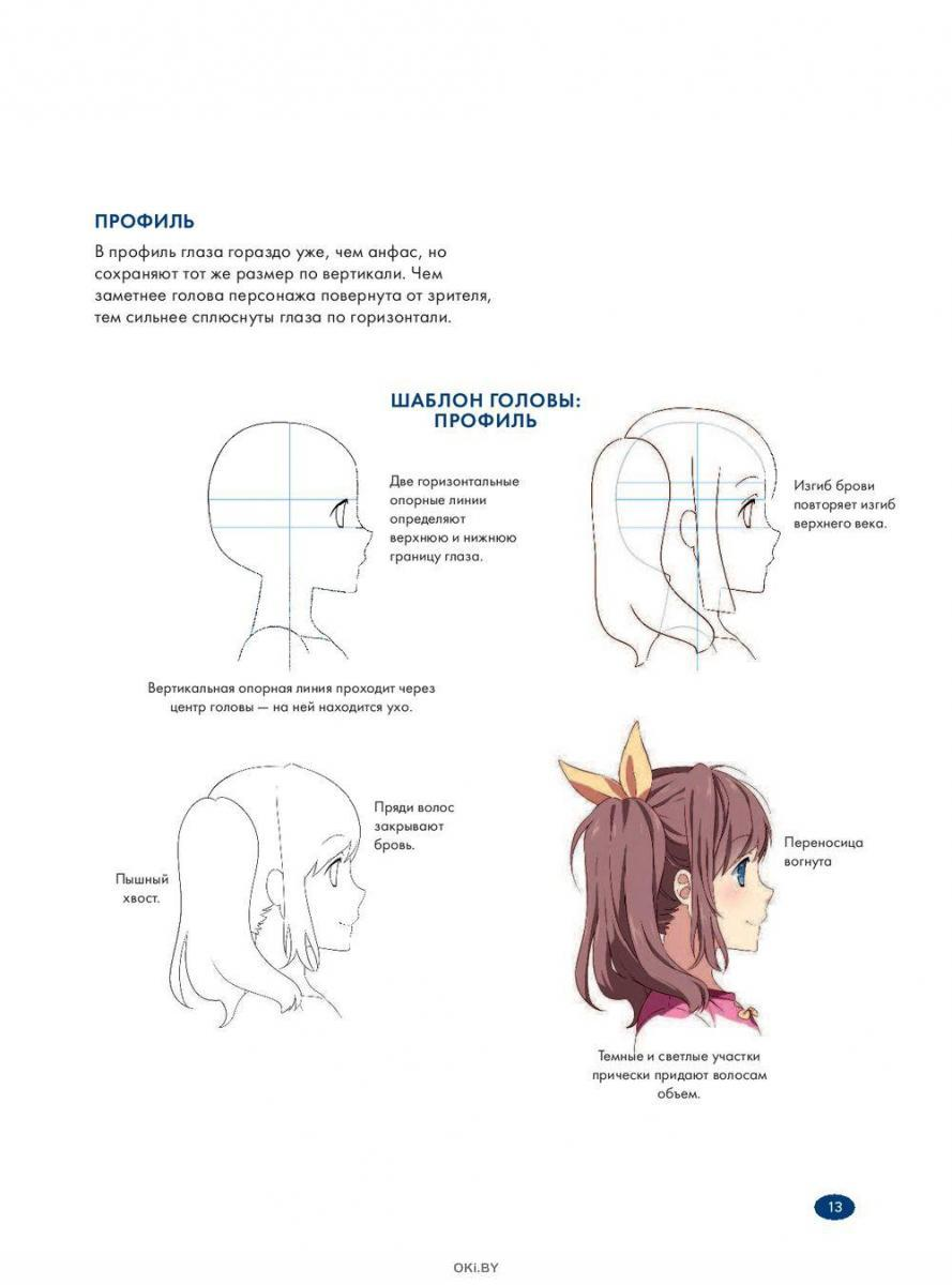 Рисуем женских персонажей аниме. Простые уроки по созданию уникальных героев. (Харт К. / eks)