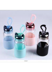Бутылка для воды «Котик» 340 мл, цвет ассорти (4 вида)