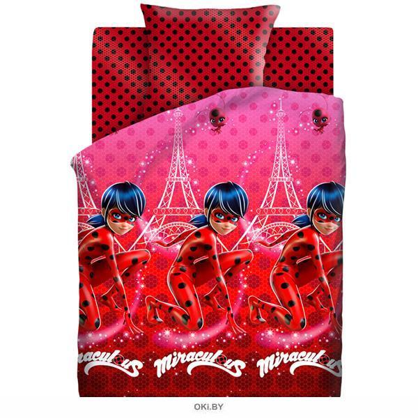 Детское постельное белье «LadyBug. Леди Баг» 1,5 сп. (70х70) 16024-1 / 16023-1 хлопок