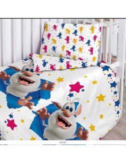 Детское постельное белье «Проказник Буба» поплин 40х60 (16315-1 / 16316-1)