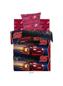 Детское постельное белье «Тачки. Ночная гонка» Neon 1,5 сп. (50х70), хлопок