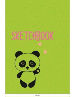 Скетчбук А5. Панда (выб. лак) (eks)