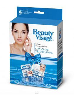Набор подарочный «Beauty Visage» Тканевая маска для лица Гиалуроновая 25 мл + Бальзам для губ Гиалуроновый 3,6 г