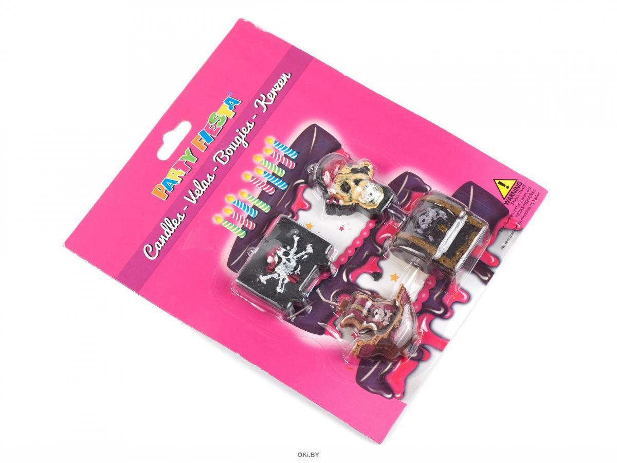 НАБОР СВЕЧЕЙ декоративных ''Пираты'' 4 шт. 4х4,5 см (арт. SD-005, код 089208)