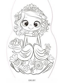 Лилли - раскраска вырубная малая «Играю! Рисую! Фантазирую!»