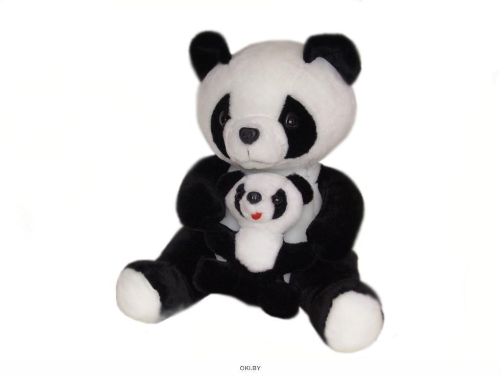 Игрушка мягконабивная «Панда с малышом-1»