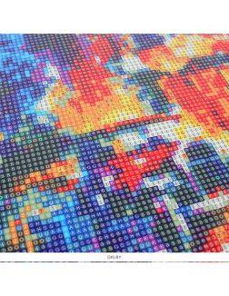Ночной город - алмазная мозаика (живопись) 40х50 см Darvish