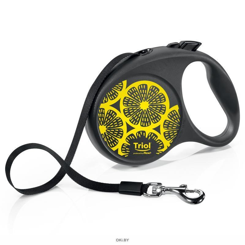 Поводок-рулетка для собак Flexi Joy Lemon S 5м до 15кг, лента