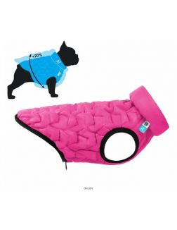 Курточка двухсторонняя AiryVest UNI, (М) дл: 45-48 см; ог: 55-72см, ош: 34-40см, розово-черная
