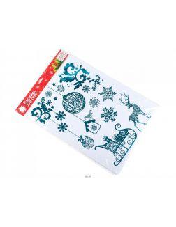 НАБОР НАКЛЕЕК декоративных на окно «Новогодняя история» 1 лист 33х50,5 см (арт. 11189557, код 086173)