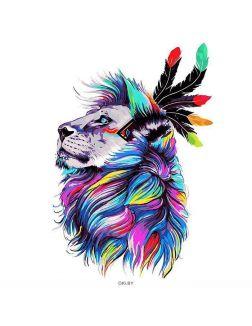 Голова льва - алмазная живопись 30х40 см Darvish