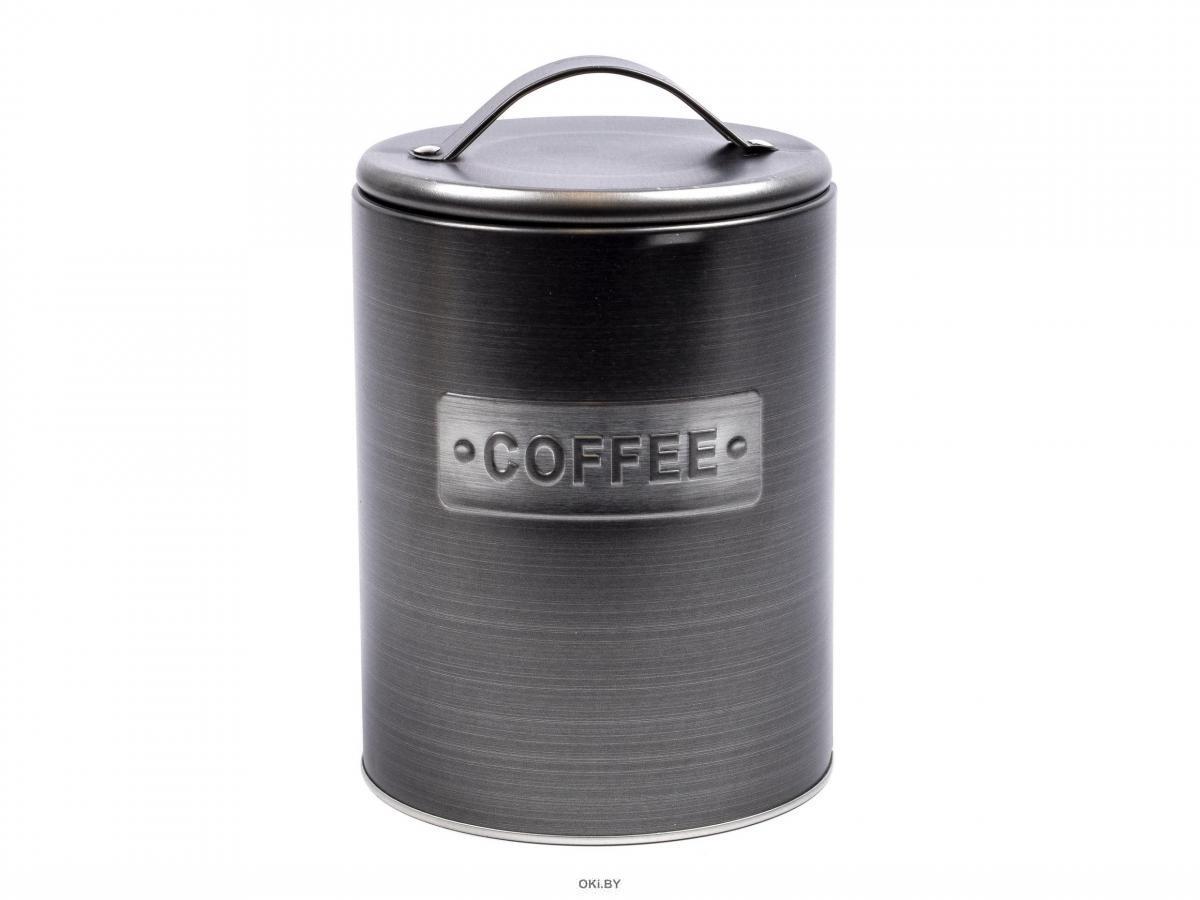 БАНКА ДЛЯ СЫПУЧИХ ПРОДУКТОВ металлическая ''Coffee'' 10,7*16,3 см (код 169545)