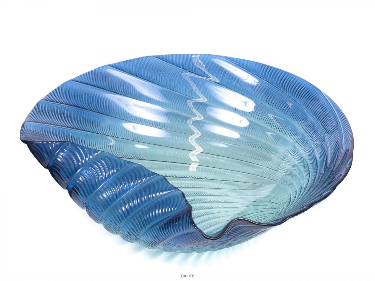ВАЗА стеклянная декоративная 33*7 см (арт. 532933blu, код 187621)