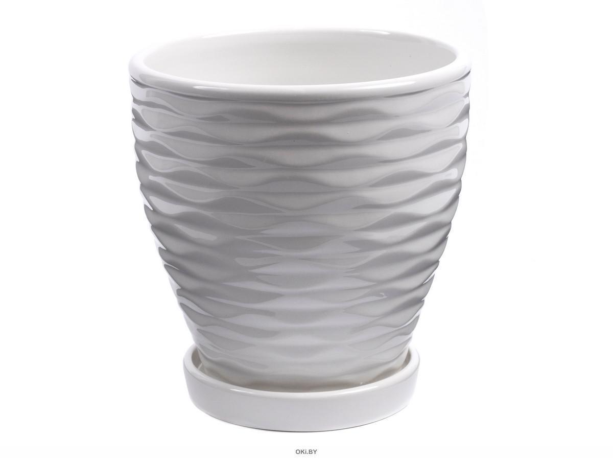 ГОРШОК ДЛЯ ЦВЕТОВ керамический 14х14 см (арт. CR15021-3, код 216505)